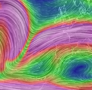 250mb stream lines, 29 Mar 16, ENS.