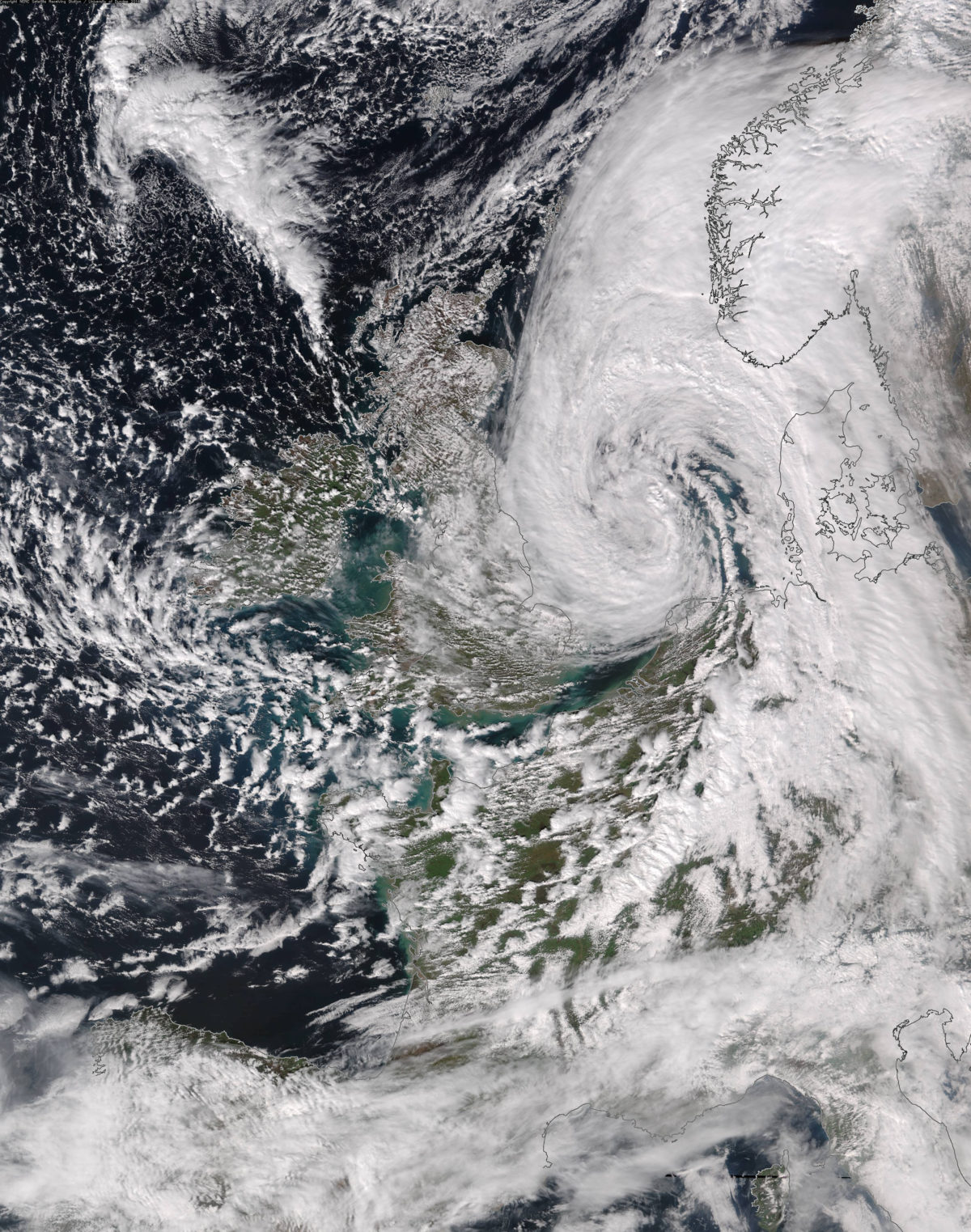 Storm Katie over the North Sea