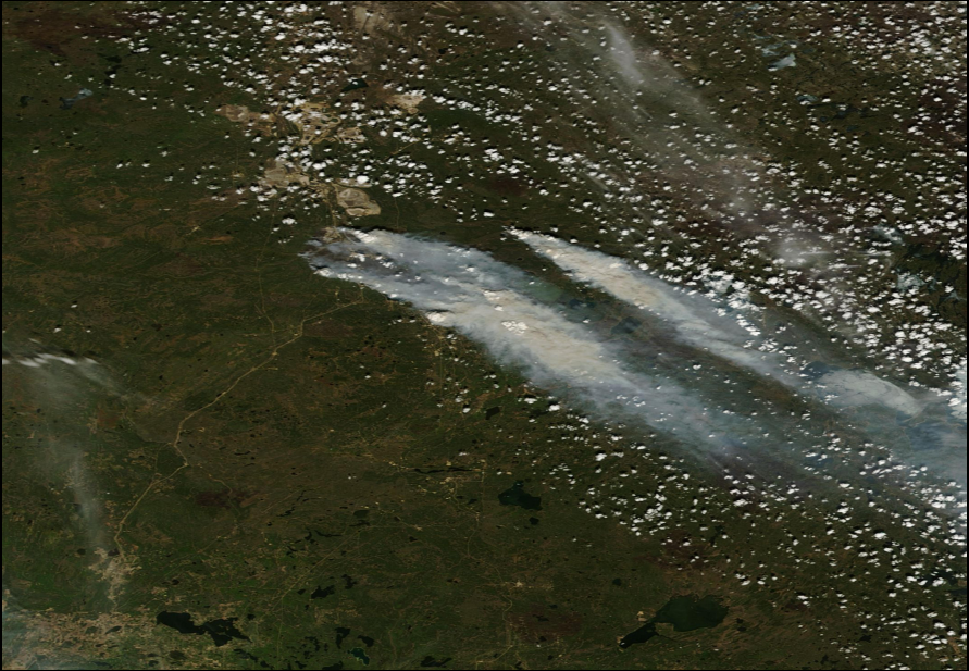 Carbon Monoxide Plume from Alberta Fires