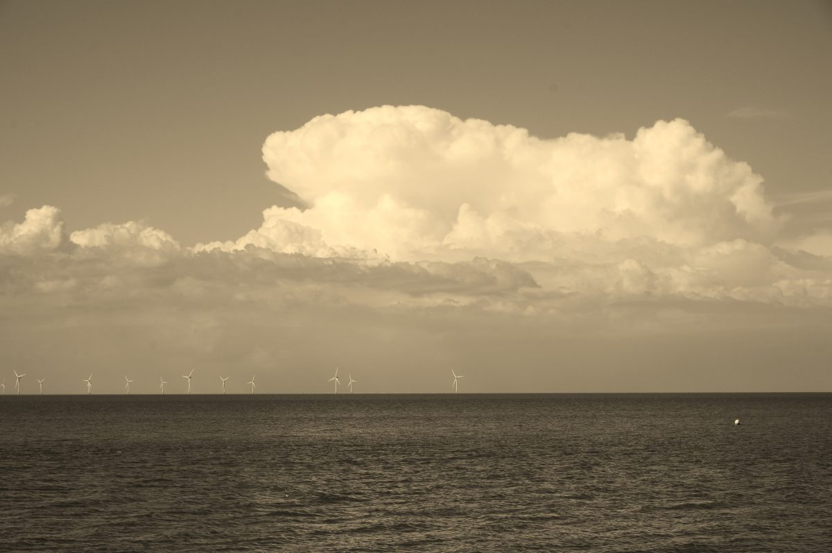 Towering Cumulus over the London Array